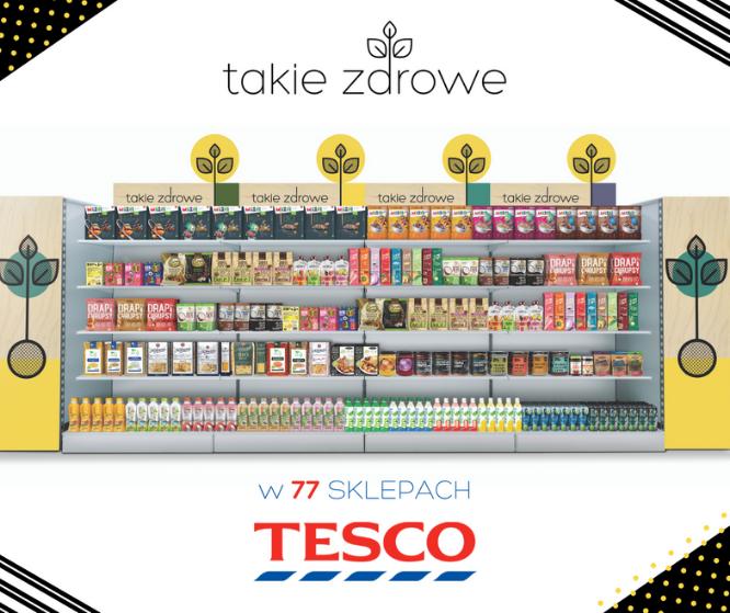 Takie Zdrowe w 77 sklepach Tesco