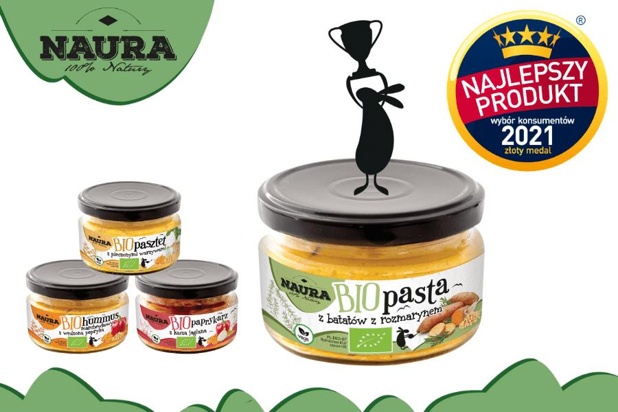 Pasty NAURA najlepszym produktem 2021!