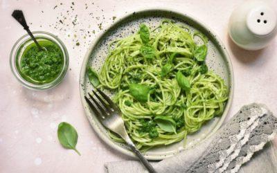 Najprostszy obiad świata – zielone spaghetti